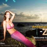 Echte Meerjungfrau auf Magazincover