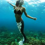 Meerjungfrau im Ozean