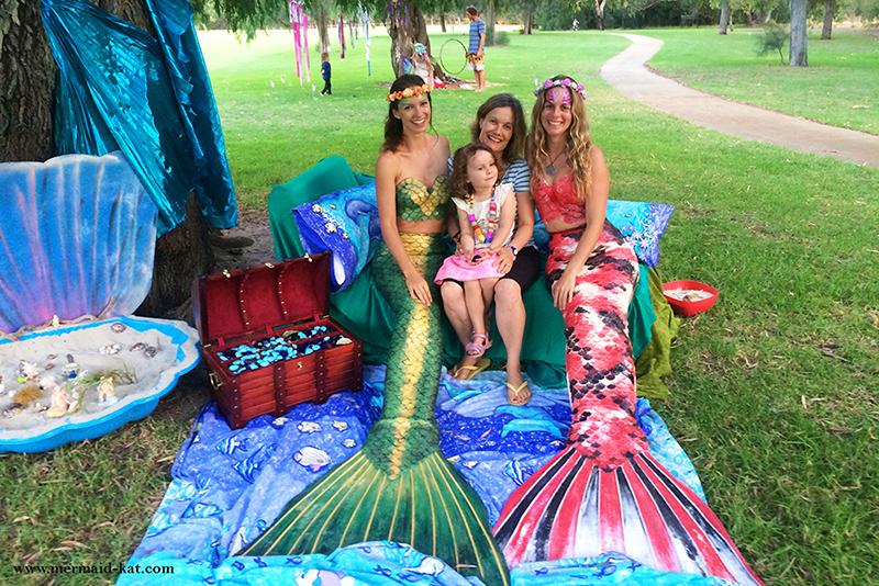 Meerjungfrauen bei Veranstaltungen zum Umweltschutz