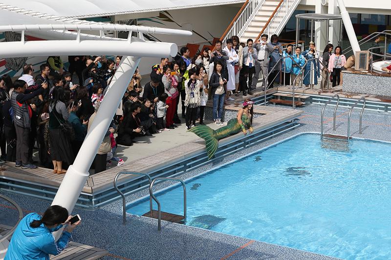 Meerjungfrauen sind das Highlight aus Events