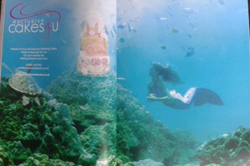 Professionelle Meerjungfrau im Asian Bride Magazine