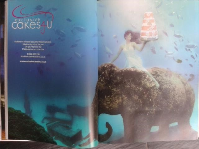Unterwassermodel Katrin Gray im Asian Bride Magazine