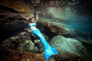 Unterwassermodel und Meerjungfrau von Beruf
