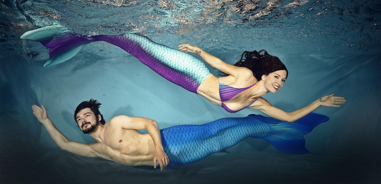 Komm zum Meerjungfrauenschwimmen