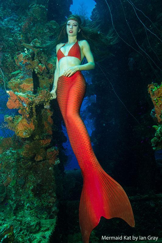 Meerjungfrau im Schiffswrack Heian Maru in Truk Lagoon