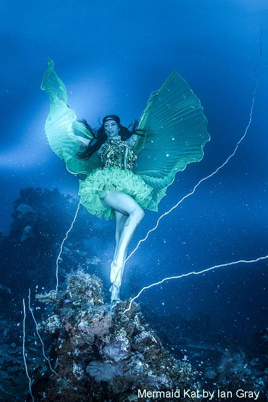 Unterwassermodel in Truk Lagoon