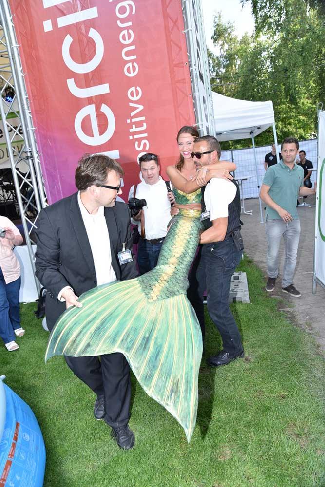 Arbeiten als Meerjungfrau auf Events