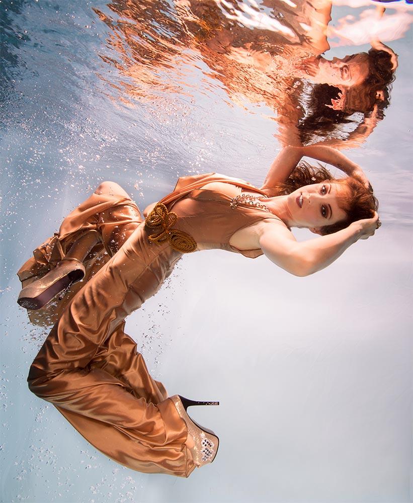 Posieren als Unterwassermodel