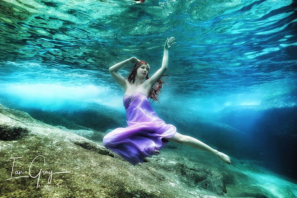 Arbeiten als Unterwassermodel