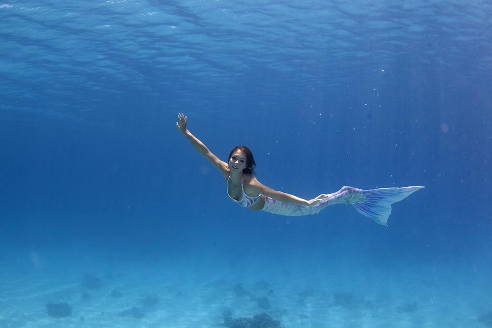 Beruf Meerjungfrau und Unterwassermodel