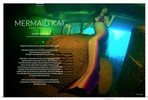 Meerjungfrau Mermaid Kat beim Unterwasser Fotoshooting in Truk Lagoon