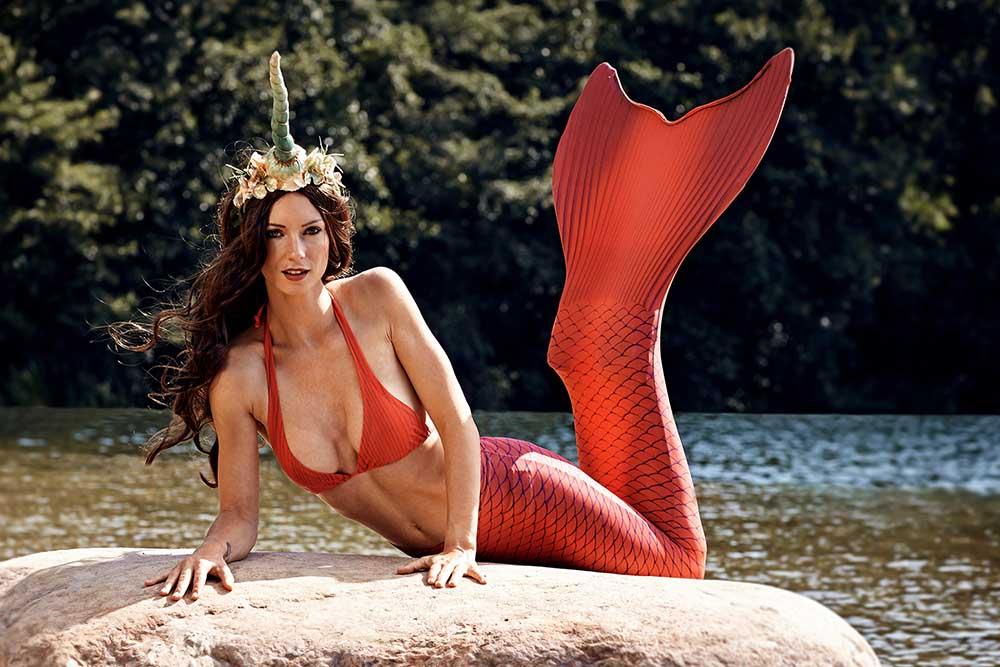 Meerjungfrauen Fotoshooting mit Flosse vom Mermaid Kat Shop Lübeck