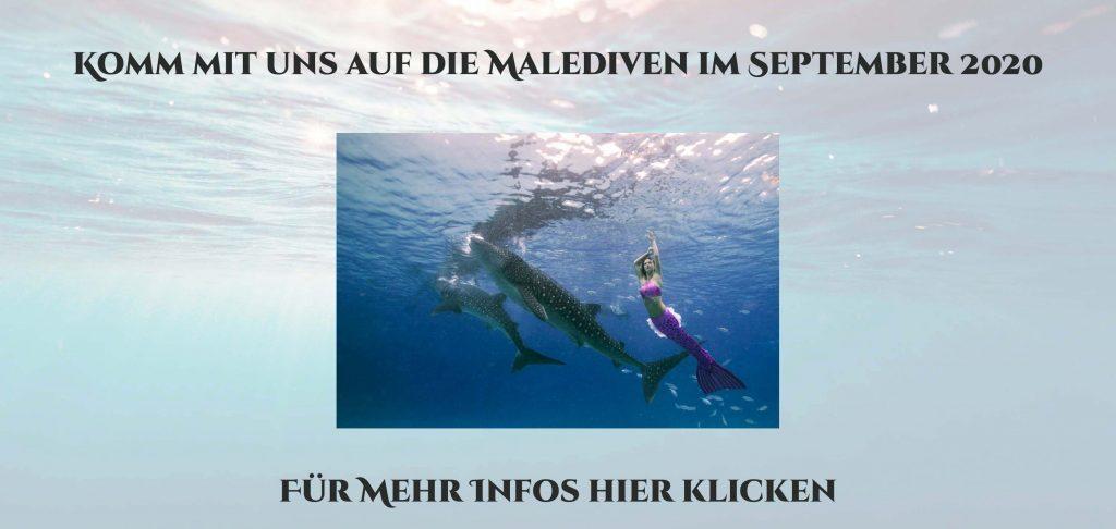 Meerjungfrauen Reise auf die Malediven mit Profi Nixe Mermaid Kat