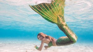 Arbeiten als professionelle Meerjungfrau und Unterwassermodel