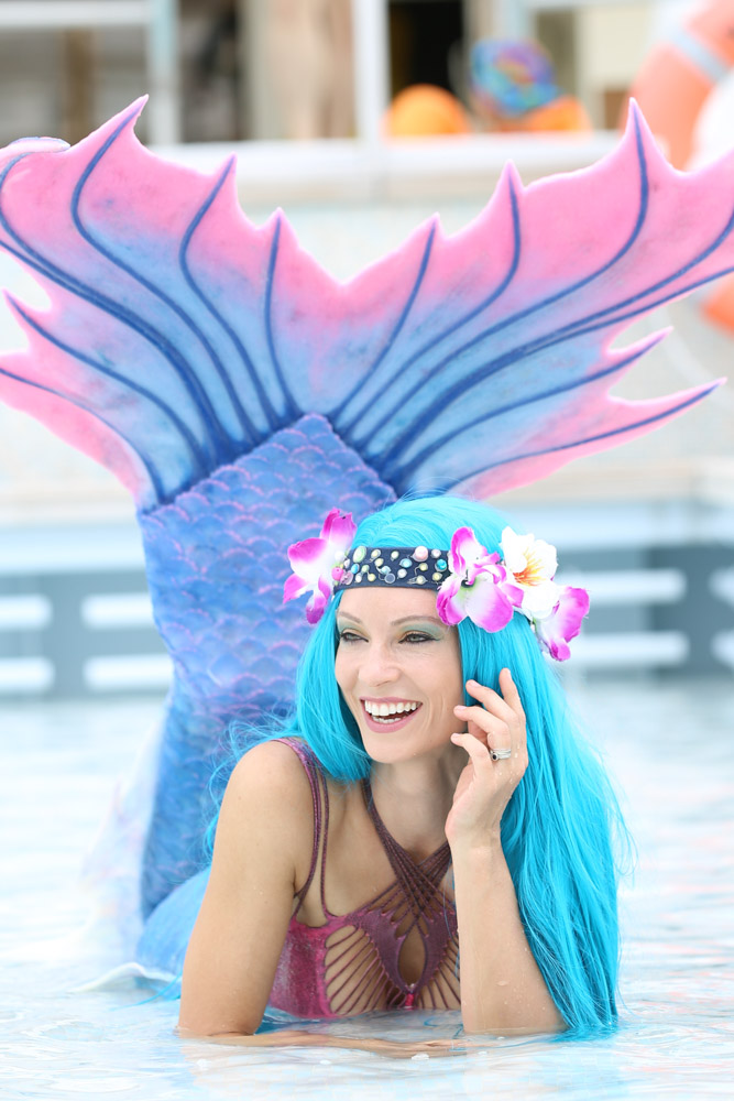 Meerjungfrauen-Entertainment für Veranstaltungen mit Mermaid Kat