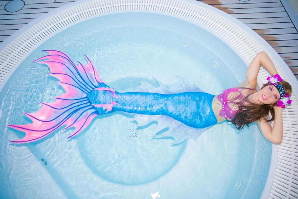 Meerjungfrau-Flosse aus Silikon vom Mermaid Kat Shop