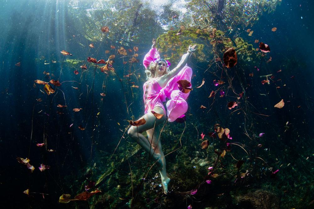 Unterwasser Model Kurs mit Mermaid Kat