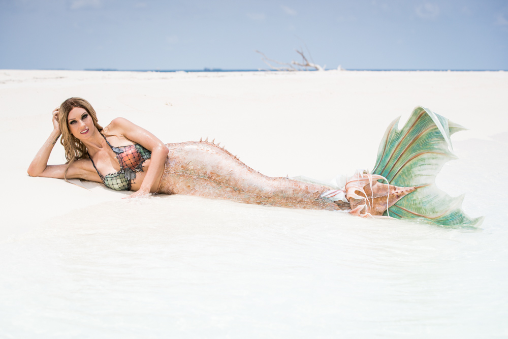 Meerjungfrauen-Bilder vom Shooting mit Mermaid Kat auf den Malediven - Ian Gray Photography