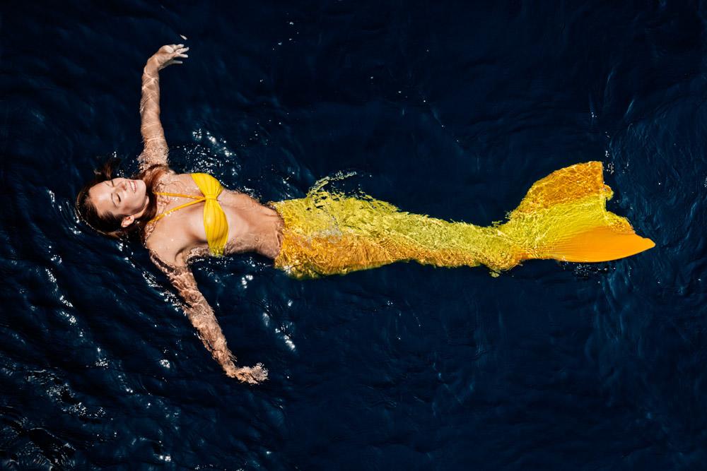 Meerjungfrauenshooting - Meerjungfrauen-Bilder im Wasser