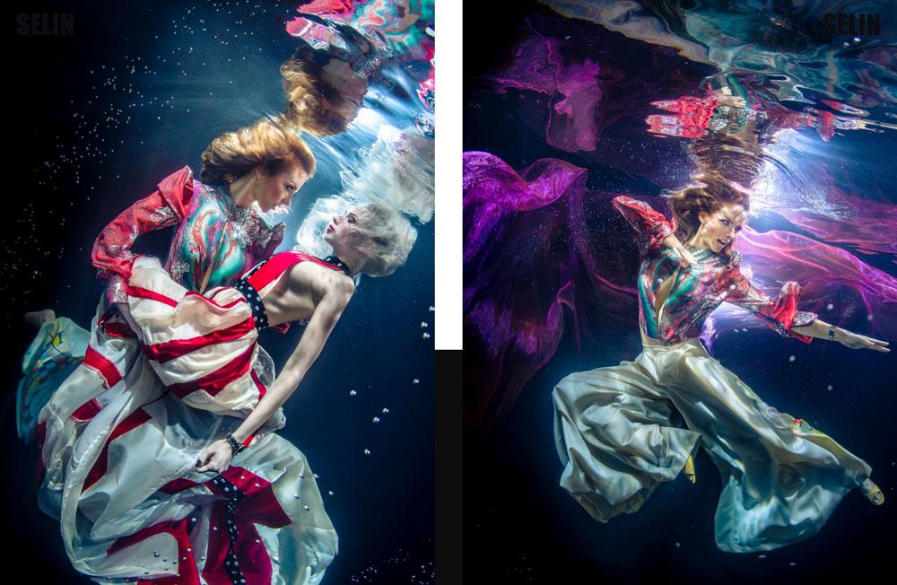 Unterwassermodelshooting mit Katrin Gray für Selin Magazine - Unterwassermodel