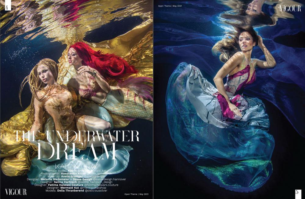Unterwasser-Fashion - Unterwasserfotoshooting mit Unterwassermodel Katrin Gray