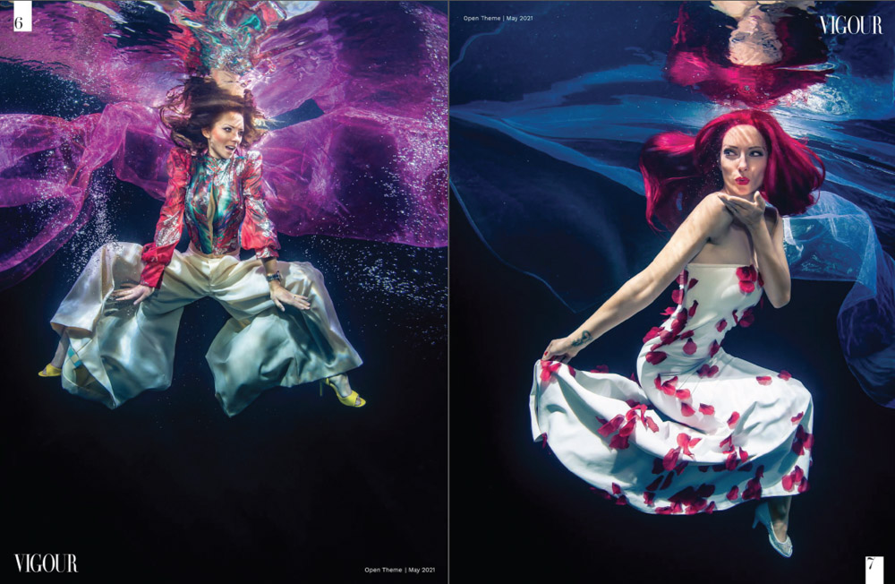 Unterwasser-Fashion - Unterwassershooting mit Unterwassermodel Katrin Gray