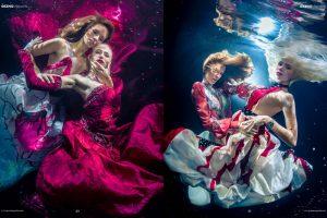 Unterwassermodel Katrin Gray und Delia Thranberend beim Unterwasserfotoshooting für GEZNO Magazin - Unterwasserfotograf Konstantin Killer - Unterwassershooting wie bei GNTM