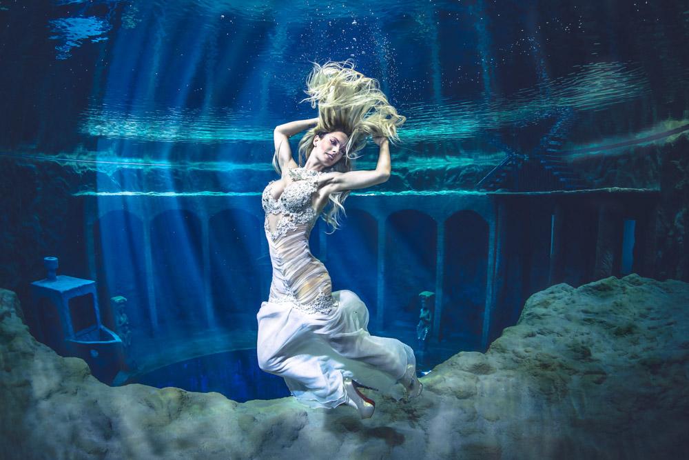 Unterwassershooting im Dive4Life mit Unterwassermodel Katrin Gray