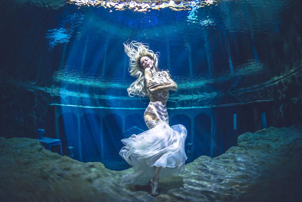 Unterwassershooting im Dive4Life mit Unterwassermodel Mermaid Kat